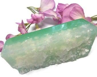Salt Soap | Salt Scrub Soap | Lavender Mint | Glycerin Soap | Dead Sea Salt Soap | Exfoliating Soap | Aromatherapy Soap Bar | Salt Soap