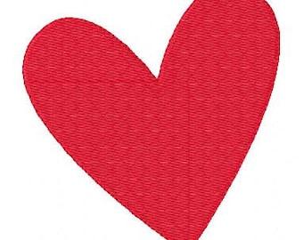 Big Heart Valentine Machine Embroidery Design // Joyful Stitches