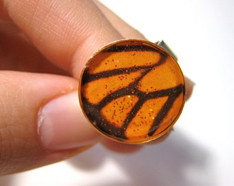 Shimmery Butterfly Resin Ring