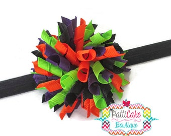 Trick or Treat Halloween Boutique Baby Girl Korker Hair Bow, Black Headband, Corker Hair Bow, Toddler Hair Bow, Baby Hair Bow, 809