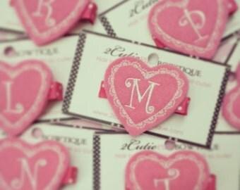 Valentine Monogram Clippie