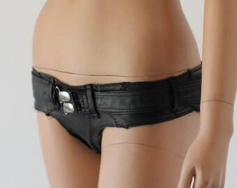 LEATHER Hot Pants Shorts Knickers Bikini Pants Frankenstein CHRISST