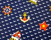 vintage nautical sailboat upholstery fabric