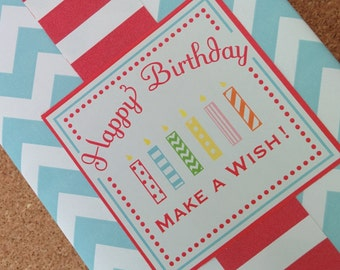 Make a Wish Birthday Labels