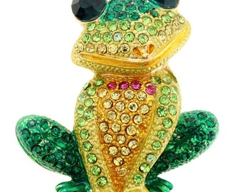 Green Frog Pin Brooch 1010171