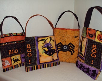Quilted & Embroidered Halloween Bags, small
