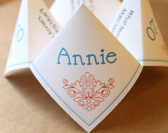 Meet Our Bridal Party Cootie Catcher (PDF - PRINTABLE)