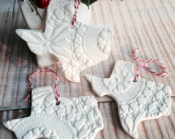 Texas Ornaments - Set/3