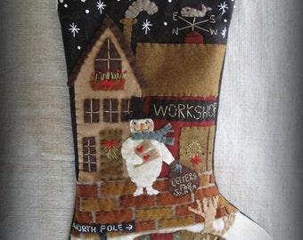 Letters to Santa Stocking E-PATTERN by cheswickcompany