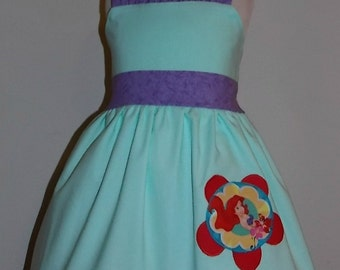 Little Mermaid Ariel Jumper Dress Custom Boutique Clothing