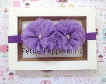 Lavender Baby headband, baby girl headband, newborn headband, toddler headband, Lavender Baby Flower Headband, Lavender Baby Hair Bow