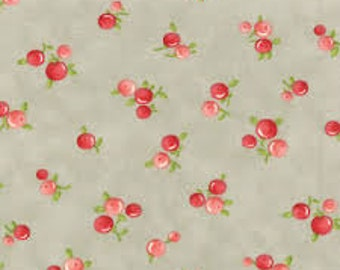 Ruby Quirky gray Bonnie & Camille moda fabric FQ or more