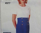 Misses' Very Easy Fitted Dress, See & Sew Butterick 4977 Sewing Pattern UNCUT Sizes 12-14-16