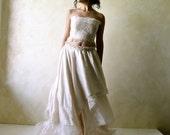 Boho Wedding Dress, Fairy Wedding Dress, Hippie wedding dress, Alternative wedding dress, Beach Wedding dress, Backless wedding dress,