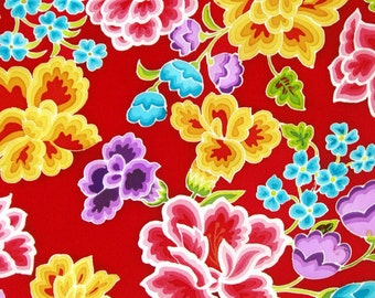 Art on Silk Bright Embroidery Mexican Style Art Print