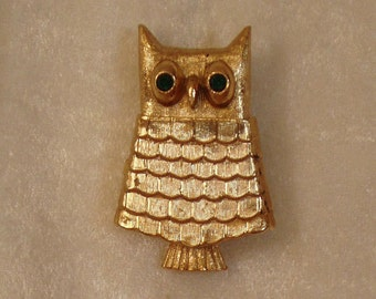Owl Perfume Brooch by AVON