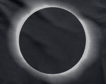 TOTAL ECLIPSE mens t-shirt Hand Pulled Screen Print on Black tee size Small, Medium, Large, XL - Free Shipping