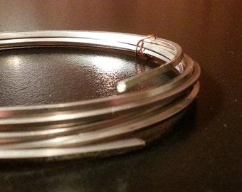 14 gauge SQUARE nickel silver wire - Dead Soft - 5 feet