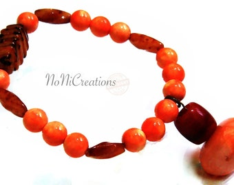Orange  Stretchy Bracelet