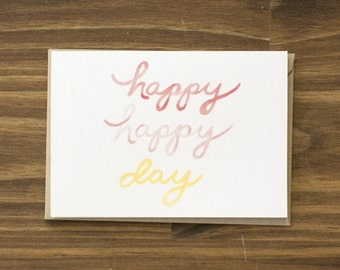 SALE happy happy day wedding card