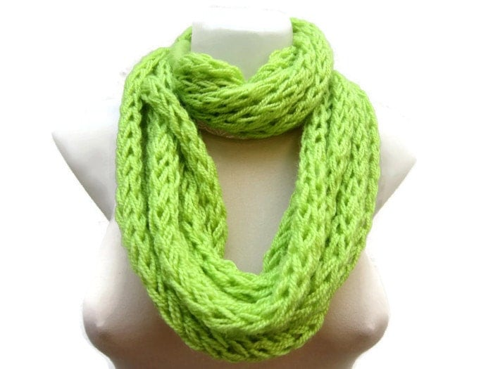 finger knit scarfnecklace scarfwinter by scarfnurlu on etsy