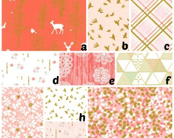 Custom Crib Bedding You Design   Bumper and Bedskirt Ridge in Coral and Blush