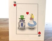 An Unlikely Pair- Alice in Wonderland and Star Wars Inspired Card