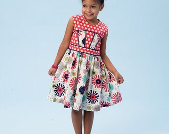 Sewing Pattern-McCall's -Baby 6945 Dress-Size 2,3,4,5