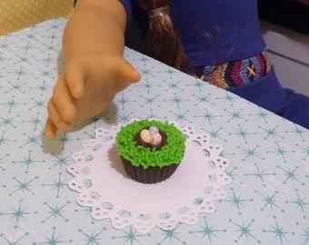 Miniature Easter Egg Nest Cupcake for American Girls 1:3