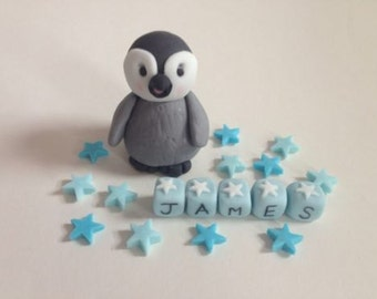 Handmade Baby Penguin Cake Topper/Decoration