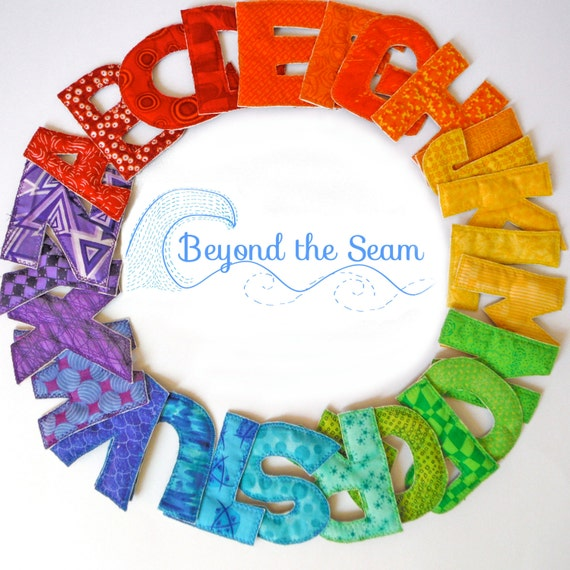 Magnetic Fabric Alphabet Set -RAINBOW UPPER CASE-