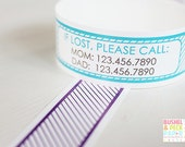 Custom Vinyl Striped ID Bracelets - Personalized ID Bands - #Kids #Travel #Safety