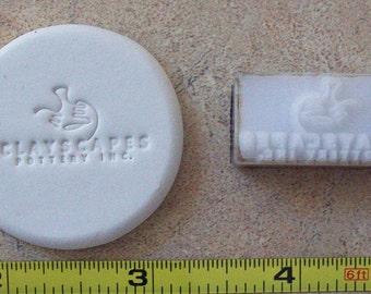 "Custom Pottery Stamp under 2"""