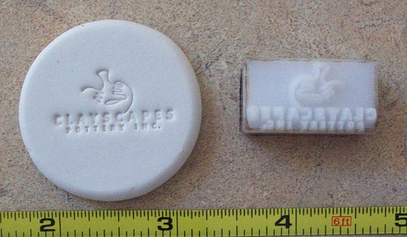 Custom Pottery Stamp under 2""