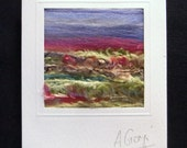 Textile Art Card with Wool,Cotton and Silk Threads