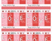Printable God is Love Religious Christian Valentine Cards or Notes