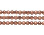 Round  Goldstone Brown  Beads  4mm 16 Inch Strand