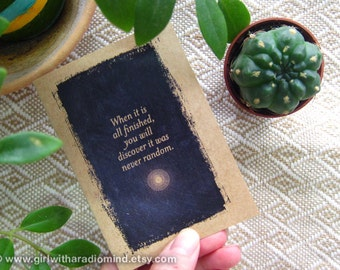 Small Gift - Universe Notebook 47. Mini Pocket Message Notebook - When it's All Finished, You will Discover it was Never Random.
