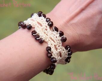 CROCHET PATTERN- Beaded Jewelry Tutorial, Crochet Bead Bracelet Pattern - Instant PDF Download (27)