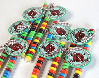 Football party favor,  football treat (10), green favor, party favor, candy favor, football favor, football candy, superbowl party, tailgate