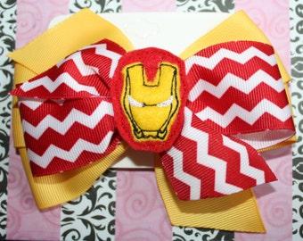 Super Hero Hair Bow with feltie center