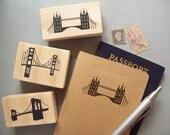 Custom Bridge Stamp - London Bridge Golden Gate Bay Bridge Brooklyn - Travel Skyline Silhouette Destination Wedding Vacation Rubber Stamp