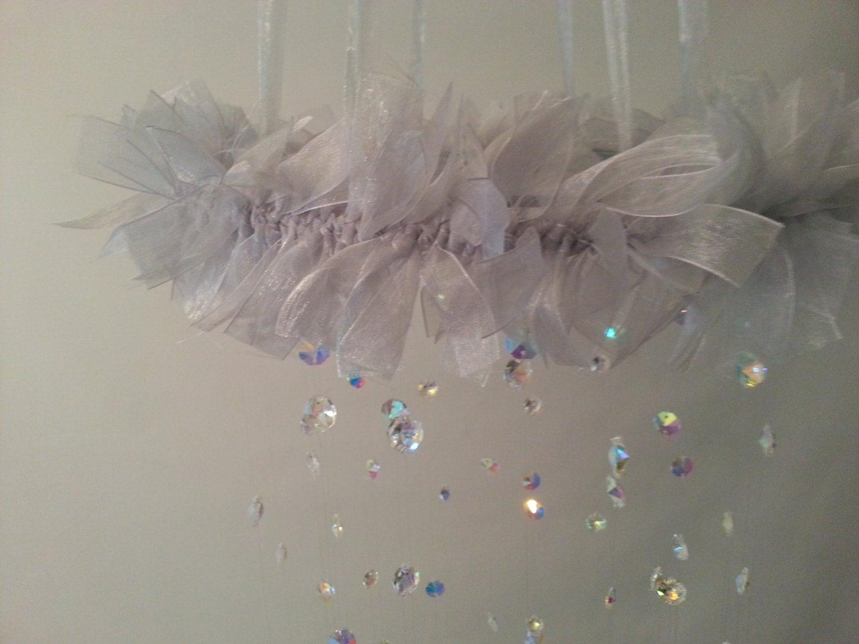 silber grau kristall kronleuchter von magicalwhimsydesigns auf etsy. Black Bedroom Furniture Sets. Home Design Ideas