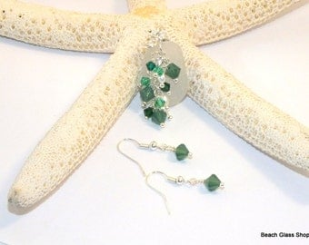 Sea Glass Jewelry - Sterling Necklace - Sea Glass Necklace - Lake Erie Beach Glass -  Mermaid Tears