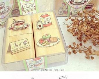 Dessert & High Tea Quartet stamp set