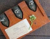 vintage wilson jones triple hole punch, antique industrial office decor