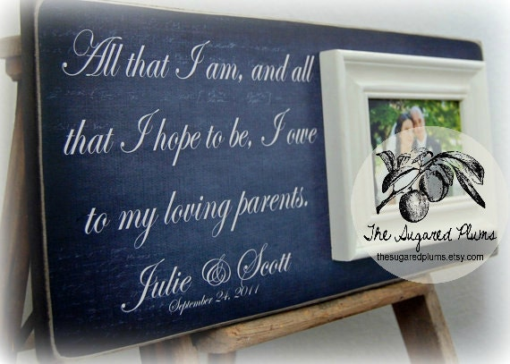 Thank You Gifts For Parents At Wedding: Wedding Thank You Parents Of The Bride Gift Parents Of The