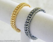 Steel and Brass Persian Chainmaille Bracelets