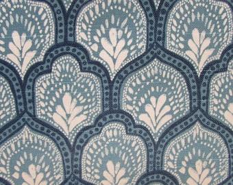 ISLA CYAN designer, drapery/bedding/upholstery ikat fabric