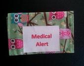 Medical Alert / Emergency Info Bands - on your seat belt, car seat, diaper bag, purse, etc.